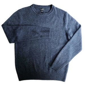 J Crew Heathered Blue Merino Sweater SZ M NWT
